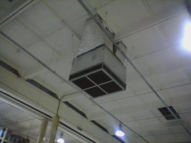 воздухораздающее устройство крышного кондиционера большой мощности