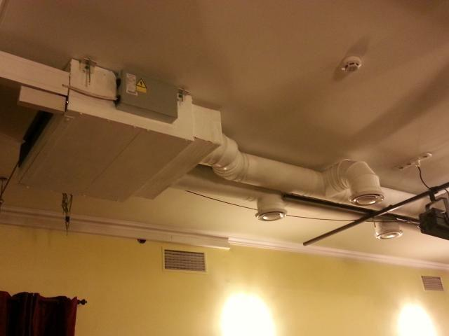 Канальный кондиционер-монтаж в открытом виде под потолком