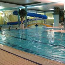 Раздача воздуха в бассейне - из колонны по центру бассейна