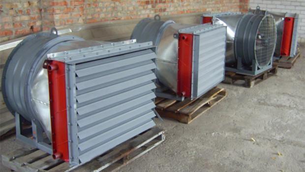 Воздушно-отопительные агрегаты большой мощности