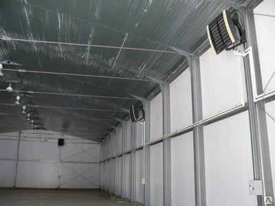 Воздушное отопление склада