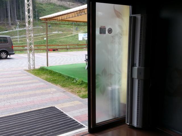 Электрическая тепловая завеса на входе