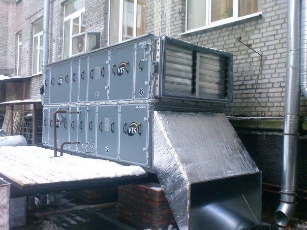 Размещение центрального кондиционера на улице