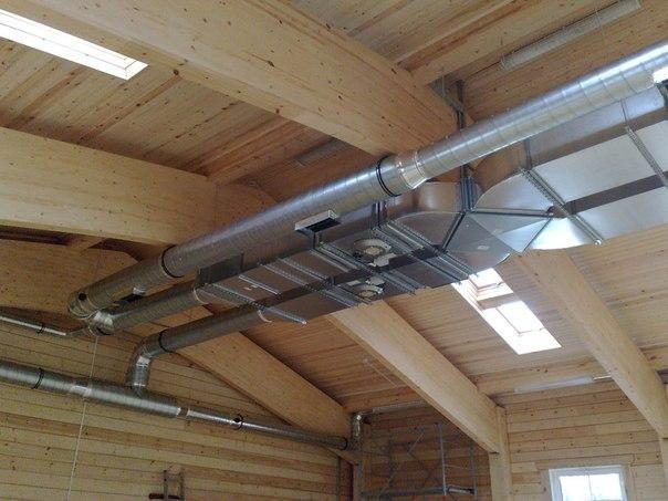 Монтаж вентиляции и воздуховодов в открытом виде