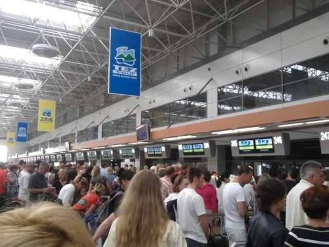 Раздача воздуха сопловыми диффузорами в аэропорту