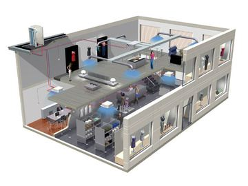 Разводка вентиляционной системы в офисе