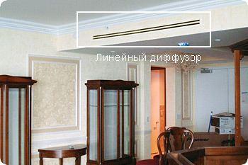 Линейный диффузор для вентиляции