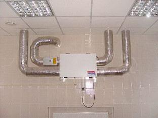 Система вентиляции с рекуператором