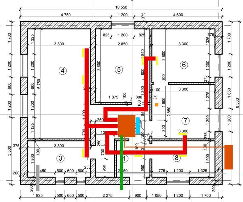 Проект системы отопления кондиционером