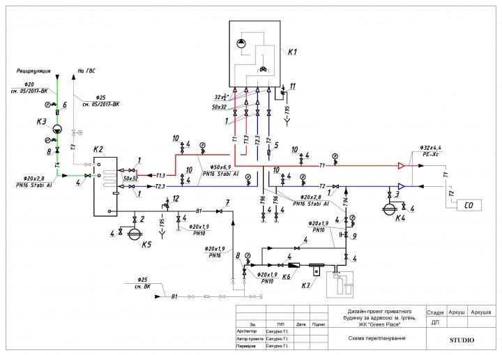 Пример плана отопление